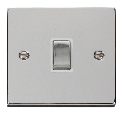 Scolmore VPCH722WH - 20A 1 Gang DP 'Ingot' Switch - White - Scolmore - Sparks Warehouse