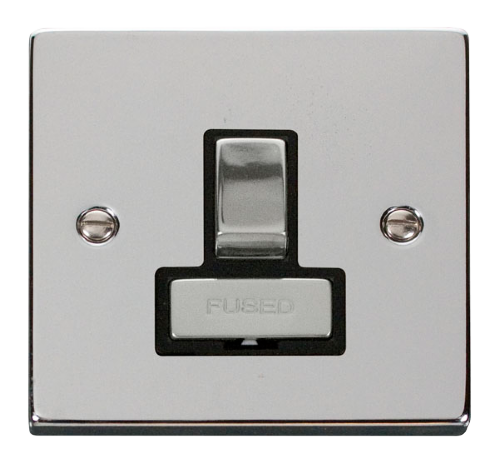 Scolmore VPCH751BK - 13A Fused 'Ingot' Switched Connection Unit - Black - Scolmore - Sparks Warehouse
