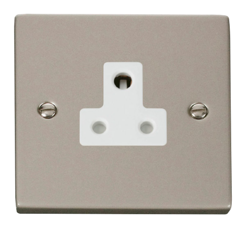 Scolmore VPPN038WH - 5A Round Pin Socket Outlet - White