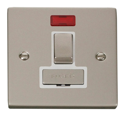 Scolmore VPPN752WH - 13A Fused 'Ingot' Switched Connection Unit With Neon - White