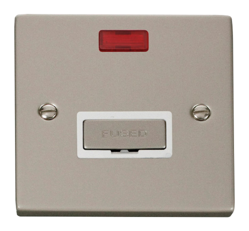 Scolmore VPPN753WH - 13A Fused 'Ingot' Connection Unit With Neon - White