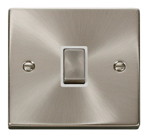 Scolmore VPSC722WH - 20A 1 Gang DP 'Ingot' Switch - White