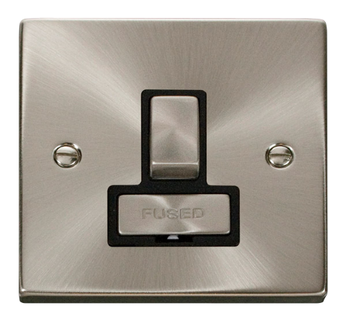 Scolmore VPSC751BK - 13A Fused 'Ingot' Switched Connection Unit - Black - Scolmore - Sparks Warehouse