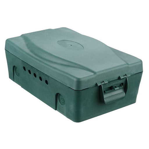 BG WBXG MASTERPLUG IP54 Weatherproof Box -  5 Cable Outlets & 2 Gland Points - Green