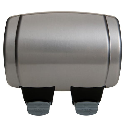BG WPL22RCD Brushed Stainless Steel Outdoor Weatherproof Double RCD Socket IP66 - BG - Sparks Warehouse