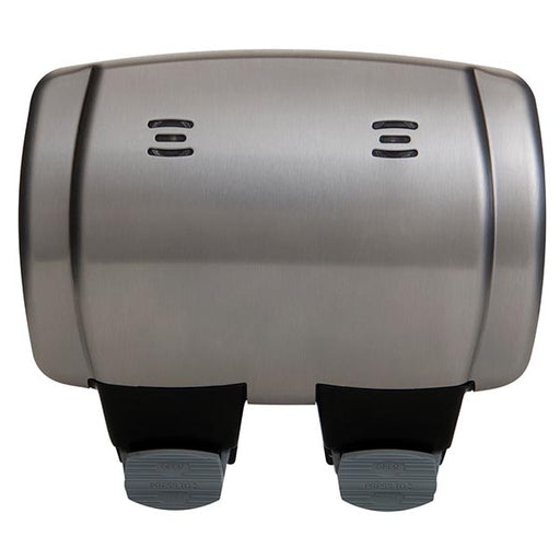 BG WPL22 Brushed Stainless Steel Outdoor Weatherproof Double Socket IP66 - BG - Sparks Warehouse
