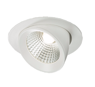 Knightsbridge WW15C 230V 15W Round LED Recessed Adjustable Downlight