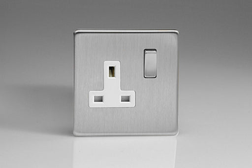 Varilight XDS4WS - 1-Gang 13A Double Pole Switched Socket with Metal Rockers