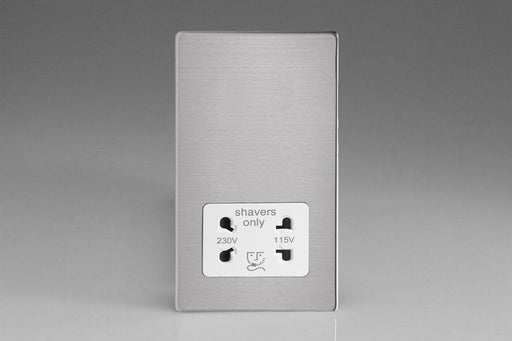 Varilight XDSSSWS - Dual Voltage Shaver Socket 240V/115V 240V/115V