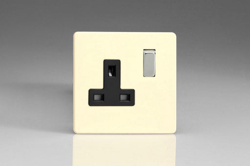 Varilight XDY4BS.PD - 1-Gang 13A Double Pole Switched Socket with Metal Rockers