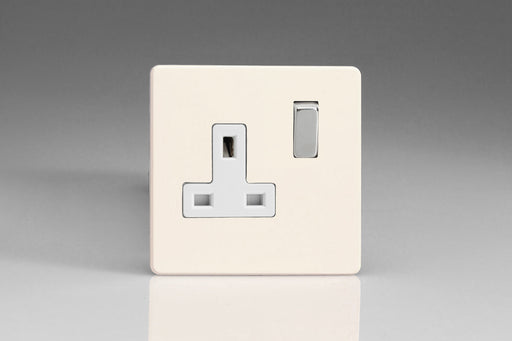 Varilight XDY4WS.PD - 1-Gang 13A Double Pole Switched Socket with Metal Rockers
