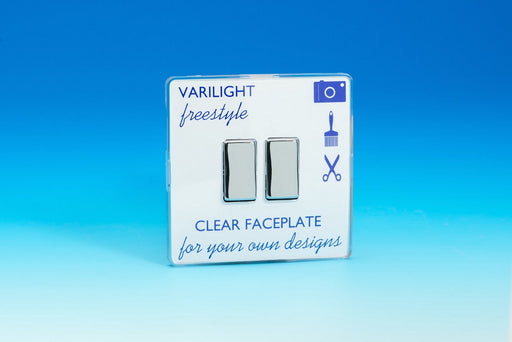 Varilight XIF2C - 2-Gang 10A 1- or 2-Way Rocker Switch