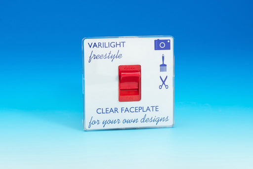 Varilight XIF45C - 45A Cooker Switch (Single Plate, Red Rocker)