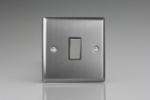Varilight XT20D - 1-Gang 20A Double Pole Rocker Switch with Metal Rockers - Varilight - Sparks Warehouse