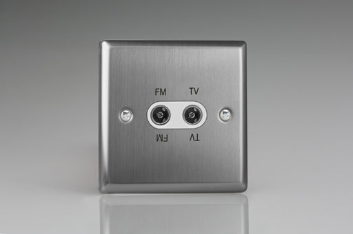Varilight XTTVFMW - 2-Gang Diplex Socket, TV/FM