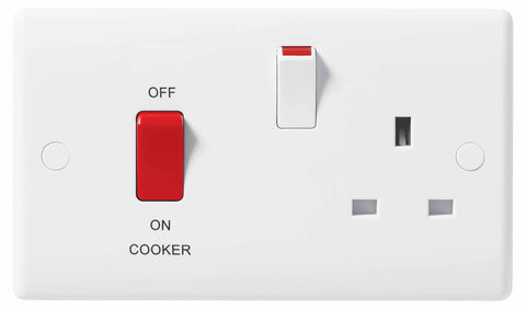 BG Nexus 871 45A Double Pole Cooker Control Unit 13A Switched Socket