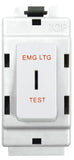BG Nexus G30EL Grid 20AX 2 Way Double Pole Secret KEY Module  Labelled  *EMG LTG TEST* White