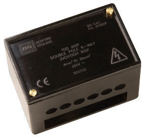 BG 4100DP Insulated 100amp Double Pole Junction Box in Black