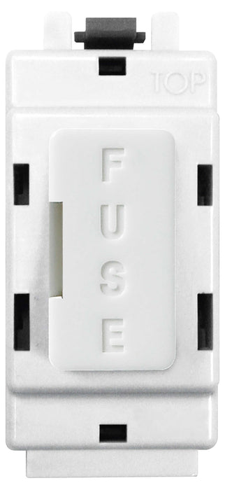 BG Nexus GFUSE Grid FUSE HOLDER Module  13A FUSE FITTED  White - BG - sparks-warehouse