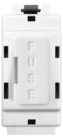 BG Nexus GFUSE Grid FUSE HOLDER Module  13A FUSE FITTED  White