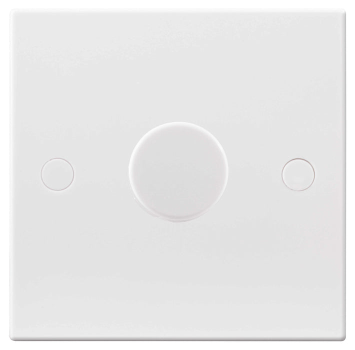 BG Nexus 981P 400W 1 Gang 1 Way Push Dimmer - White - BG - Sparks Warehouse