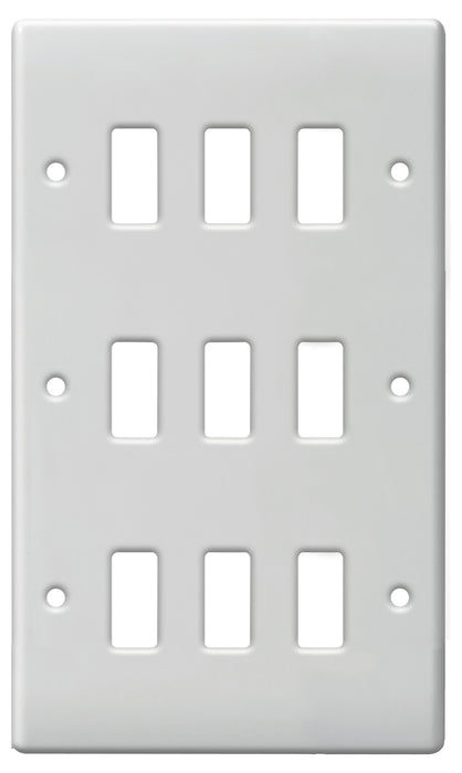 BG Nexus G89 Grid NEXUS METAL 9 Gang Front Plate - BG - sparks-warehouse