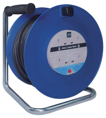 BG HDCC4013/4BL 13A 40M 4 Gang CABLE REEL BLUE - BG - Sparks Warehouse