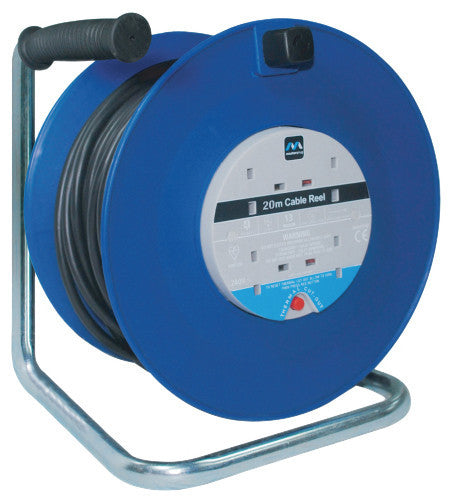 BG LDCC2513/4BL 13A 25M 4 Gang Cable Extension Reel in Blue - BG - Sparks Warehouse