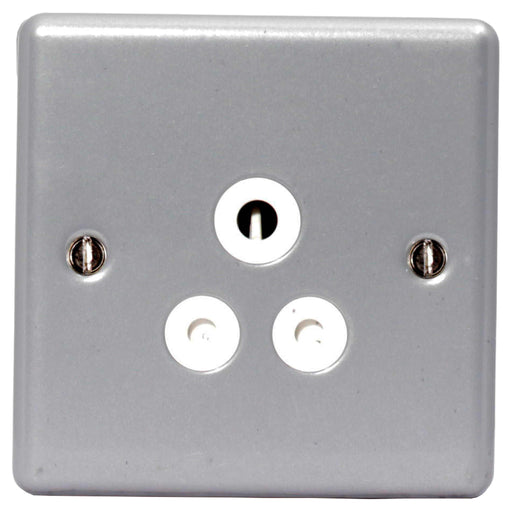 BG MC529 Metal Clad 5A 1 Gang Unswitched Socket - BG - Sparks Warehouse