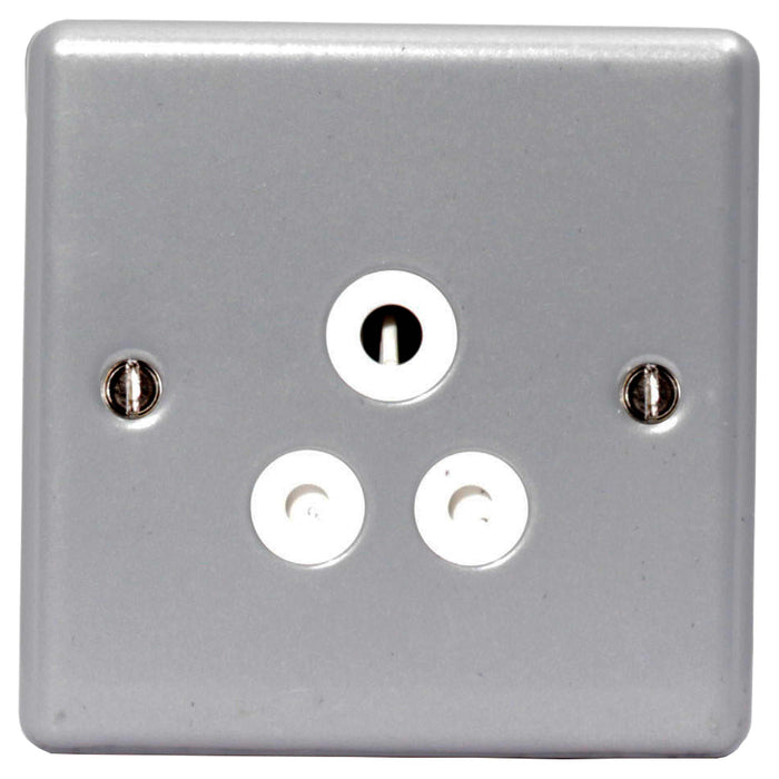 BG MC529 Metal Clad 5A 1 Gang Unswitched Socket - BG - sparks-warehouse