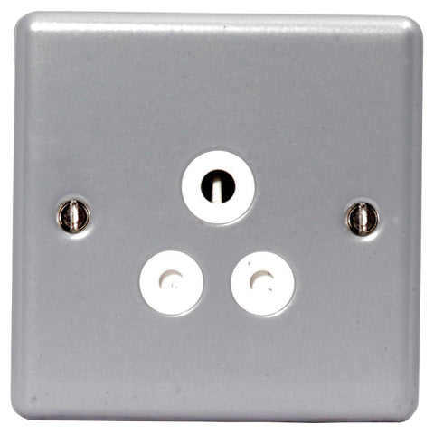 BG MC529 METAL CLAD 5A 1 Gang Unswitched Socket