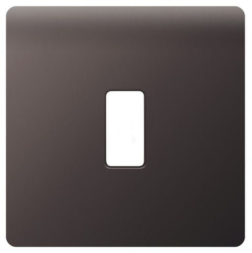 BG Nexus GFBN1 Grid Black Nickel SCREWLESS 1 Gang Front Plate