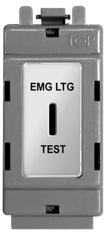 BG Nexus GPC12EL Grid Chrome 20AX 2 Way Single Pole Secret Key Module  Labelled  *EMG LTG TEST*