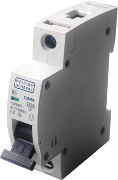 BG Electrical CUMB40 Single Pole Type B Miniature Circuit Breaker MCB 40A