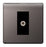 BG Nexus FBN64 Screwless Flat Plate Single Gang Satellite Socket - Black Nickel - BG - sparks-warehouse