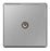 BG FBS60 Screwless Flat Plate Brushed Steel 1 Gang CO-AXIAL Socket - BG - sparks-warehouse