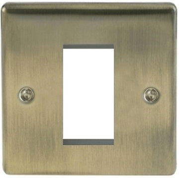 BG Nexus NABEMS1 Metal Antique Brass Single 1G Modular Front plate