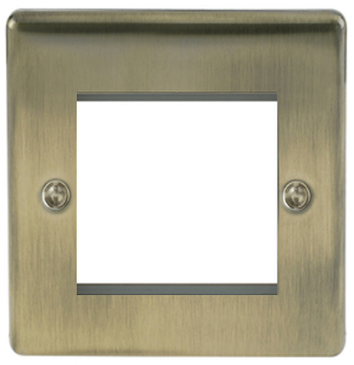 BG Nexus NABEMS2 Metal Antique Brass Single 2G Modular Front plate