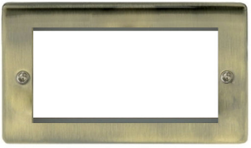 BG Nexus NABEMR4 Metal Antique Brass Double 4G Modular Front plate