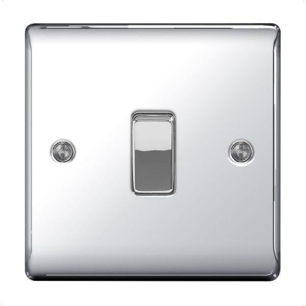 BG Nexus NPC13 Polished Chrome 10A Plate Switch Intermediate - BG - sparks-warehouse