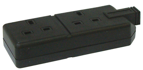 BG ELS132B 13A 2 Gang HEAVY DUTY RUBBER TRAILING Socket Black
