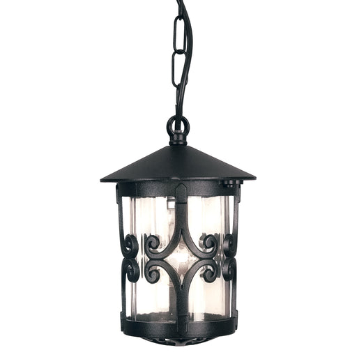 Elstead - BL13B BLACK Hereford 1 Light Porch Chain Lantern - Elstead - Sparks Warehouse
