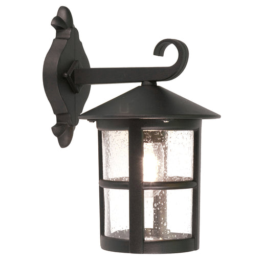 Elstead - BL21B BLACK Hereford 1 Light Porch Chain Lantern - Elstead - Sparks Warehouse