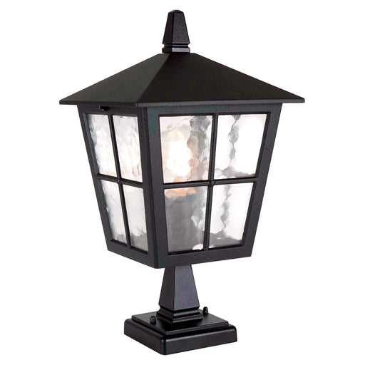 Elstead - BL50M BLACK Canterbury 1 Light Pedestal Lantern - Elstead - Sparks Warehouse