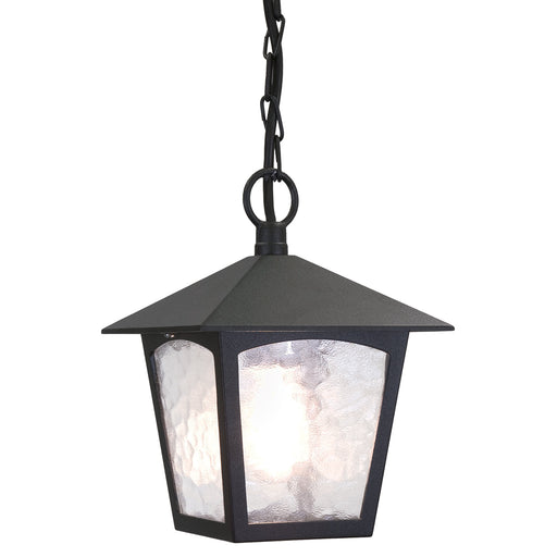 Elstead - BL6B BLACK York 1 Light Porch Chain Lantern - Elstead - Sparks Warehouse