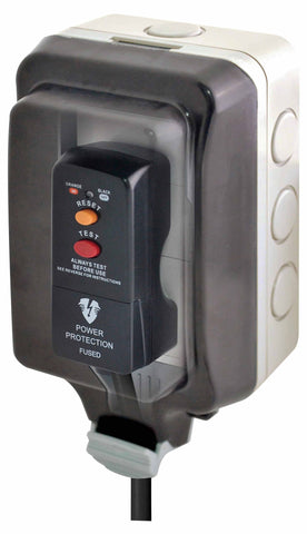 BG WP23L Weatherproof 13A 1GDouble Pole Unswitched Socket Large Housing