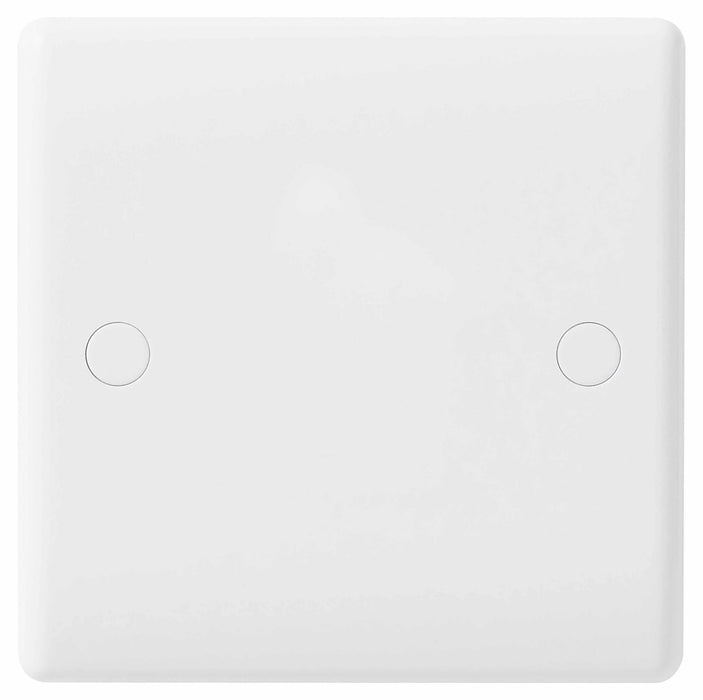BG Nexus 894 1 Gang White Blank Plate - BG - sparks-warehouse