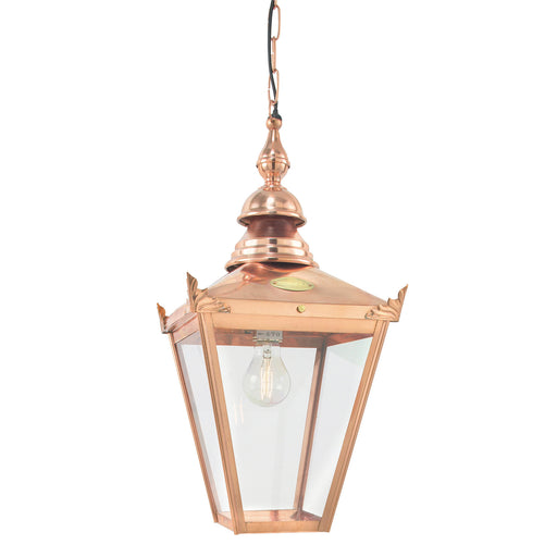 Elstead - CS8 COPPER Chelsea 1 Light Chain Lantern - Elstead - Sparks Warehouse