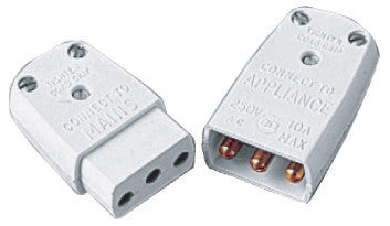 BG 452 10 amp Flex Connector 3 Pin Male & Females (20 Pack)