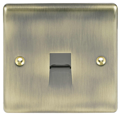 BG Nexus NABBTM1 Metal Antique Brass Single 1 Gang Master Telephone Socket - BG - Sparks Warehouse
